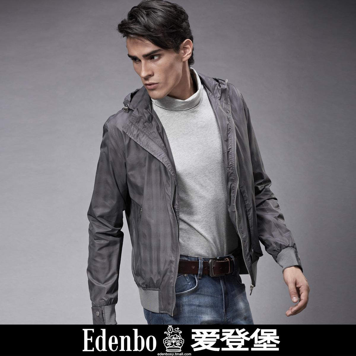 爱登堡 男装 正品 秋装薄款休闲修身风格男士单夹克 15cemhec005
