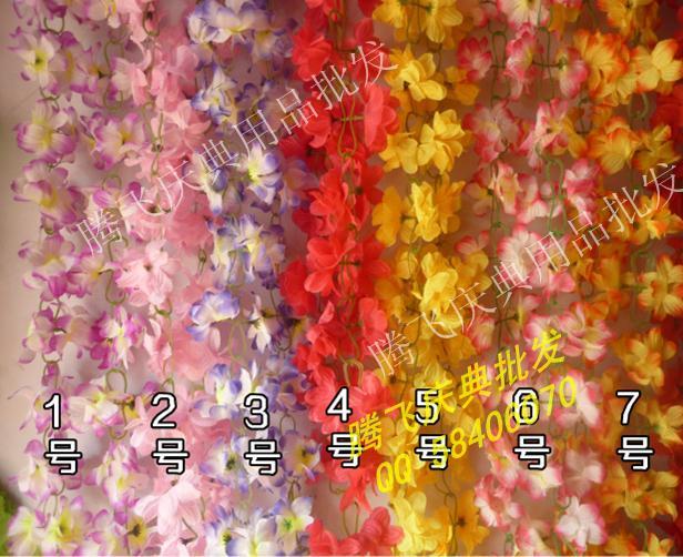 Искусственные цветы Hua Huateng шелк цветок тростника кондиционирования трубы оптом Искусственний цветок винограда украшения декоративные праздничный свадебный номер макет