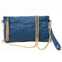 韩版新款潮流女包牛皮手拿单肩包斜挎包链条包斜跨女士小包包