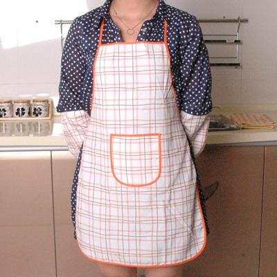 围裙套袖套装638家务清洁工具格子围兜子家居服工作服厨房用品批