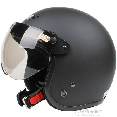 Free shippingTaiwan's imports are safe SKY matte black motorcycle helmet electric car half helmet retro helmet winter