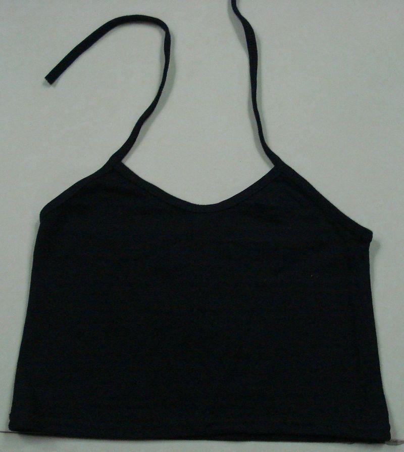 Топ Распродажа одежды Таиланда тайский хлопок хлопок половину база малых ремень/жилет черный Хлопок