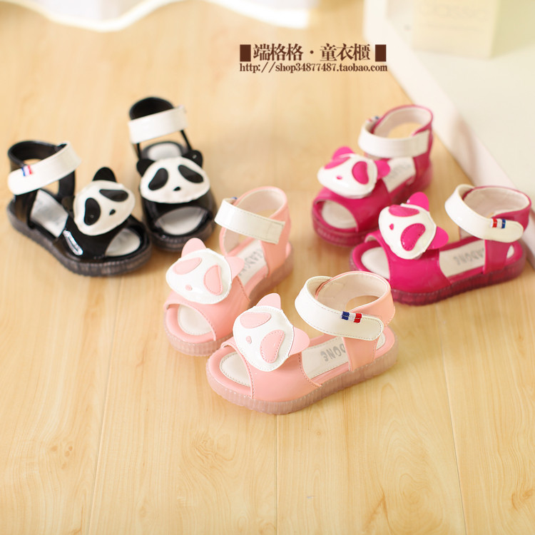 2014 summer models children girls cartoon girls Korean cartoon open-toed sandals female baby sandals children