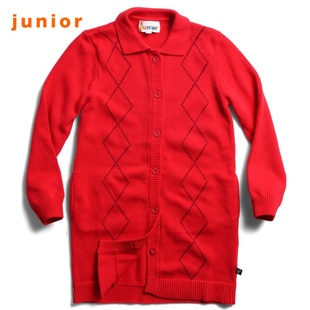 2012 Giordano knit shirts girls diamond lattice stitch collar wool coat jacket 03350502