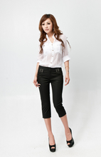 2013 genuine Kay Vatican bright new summer women fashion OL fashion pant boots, pants black brocade 813
