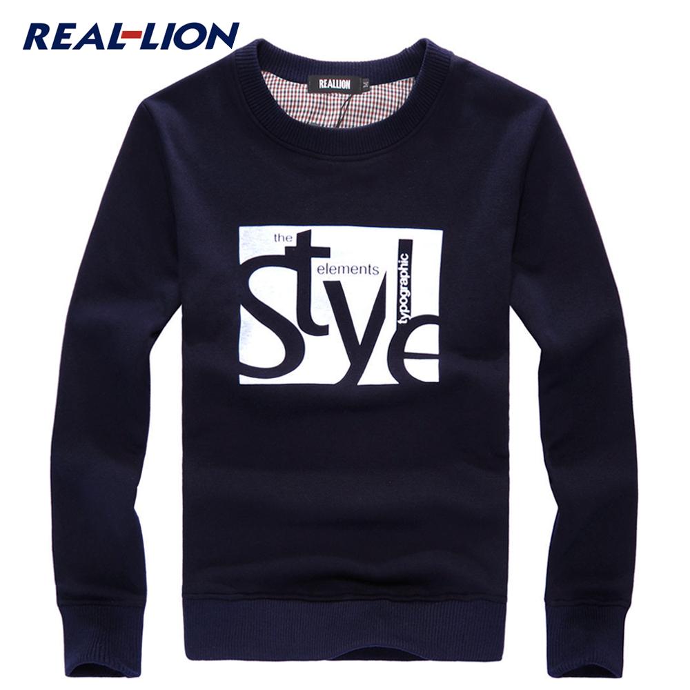 Толстовка RealLion WY/BCK Манжеты Осень Модная одежда для отдыха Хлопок без добавок