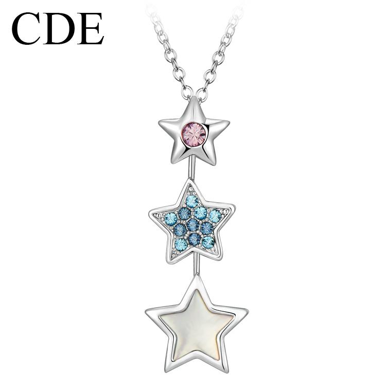 CDE饰品 施华洛世奇元素水晶项链 韩国 女 短款 幸运星星锁骨链