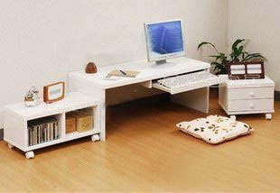 Korean garden desk computer desk white multifunction shelving Specials can be customized