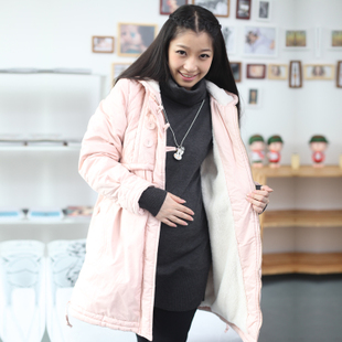 Yi Xiuge maternity dresses winter clothes Korean Pearl coat cashmere coat thicken pregnant women pregnant women 1818