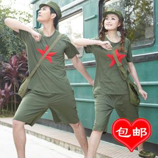 Пижама Good good fortune Хлопковый трикотаж Однотонный цвет Манжеты Для отдыха дома Для пары