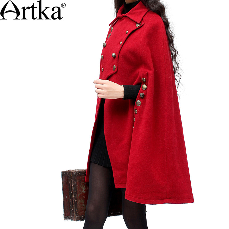 Artka red  vintage Cape coat