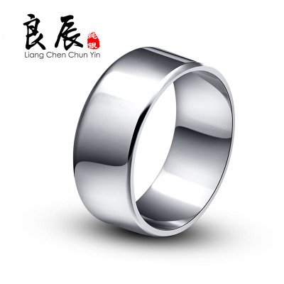 Auspicious glossy men's 925 silver ring ring rhodium domineering fashion tide male wide rings may lettering