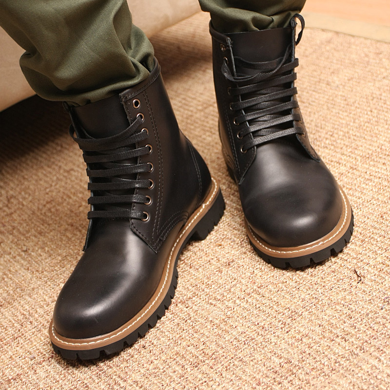 Lun mading boots tide boots men boots cowboy boots fashion boots men