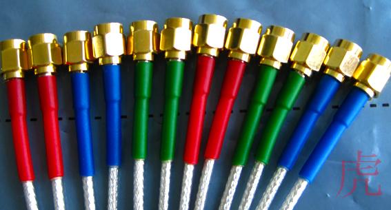 Патч-корд Rg316 фидер 1 метр тефлон 2.4g посеребрение, водонепроницаемый тепла термоусадочная трубка, 280 градусов
