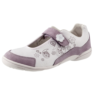 Decathlon youth walking shoes leisure shoes NEWFEEL KITAMBO WHITE VIOLET