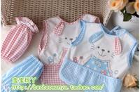 宝宝围裙套袖纯棉防水婴儿童春夏围兜兜小孩无袖罩衣吃饭衣2包邮