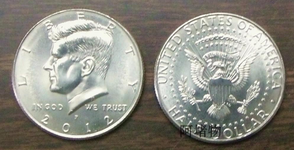 Иностранная валюта 50 центов США в конце 2012 аватар Кеннеди половина доллар Монета доллар доллар половина