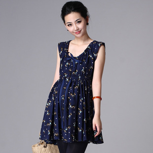 Savvy Mommy trendy maternity dresses in summer 2012 Korean breastfeeding clothes loose sleeveless vest women skirt 1244
