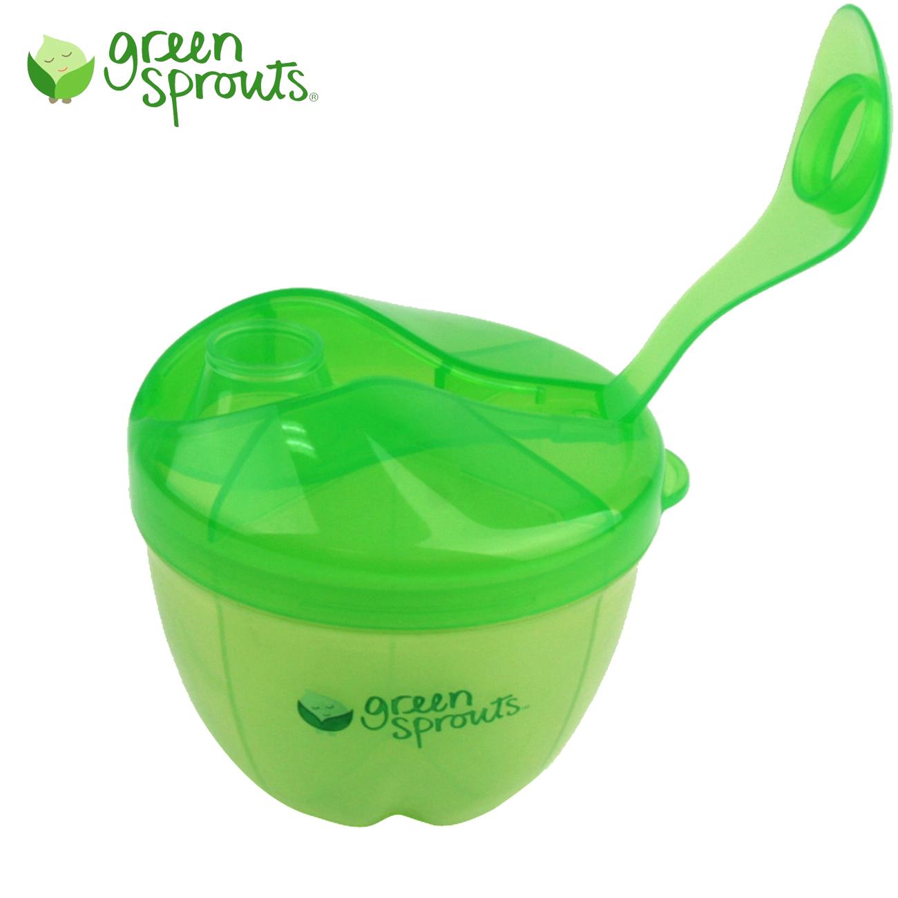美国热销GreenSprouts小绿芽婴儿用品便携奶粉盒储存零食杯辅食盒