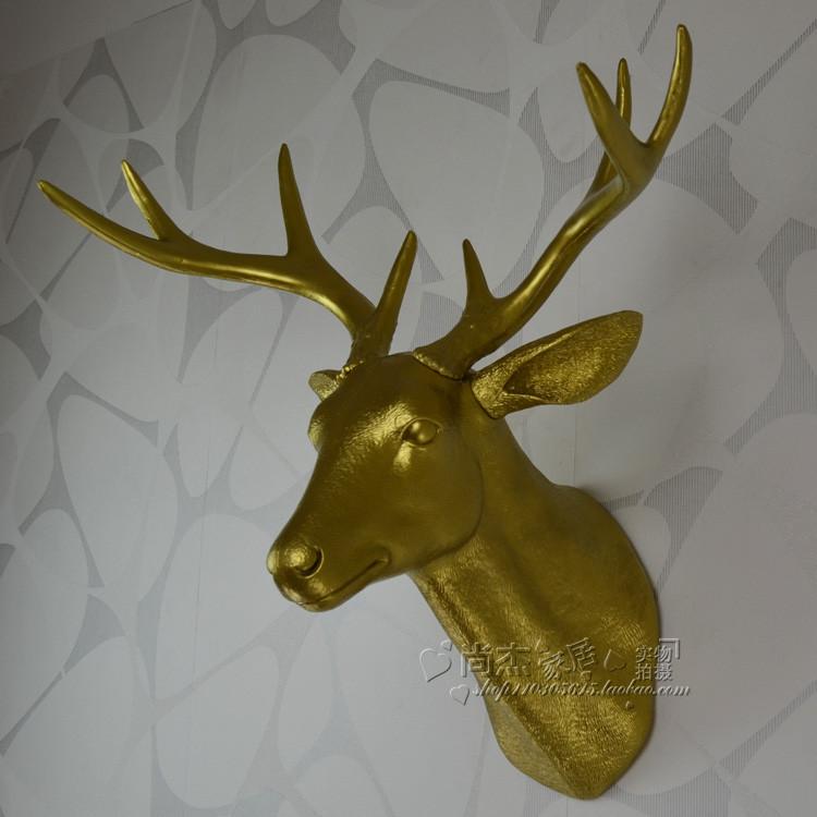 包邮 家居酒吧复古装饰/塑料动物头/壁饰墙饰/鹿头壁挂 挂板挂壁图片