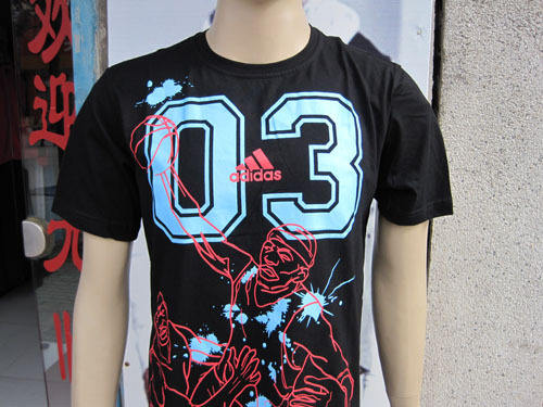 Спортивная футболка Adidas 307 Стандартный Воротник-стойка 100 хлопок Для спорта и отдыха Влагопоглощающие % Логотип бренда, Рисунок