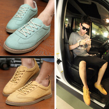 Spring, summer, new han edition men casual shoes boat shoes British tide doug Lin curved canvas shoes shoes men's shoes