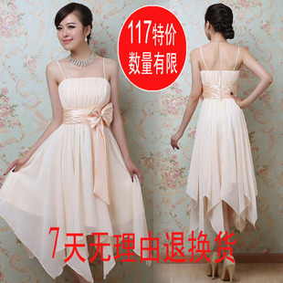 Toast Delta short bridesmaid dress dresses Bride dresses wedding red chiffon dress Korean women LF26