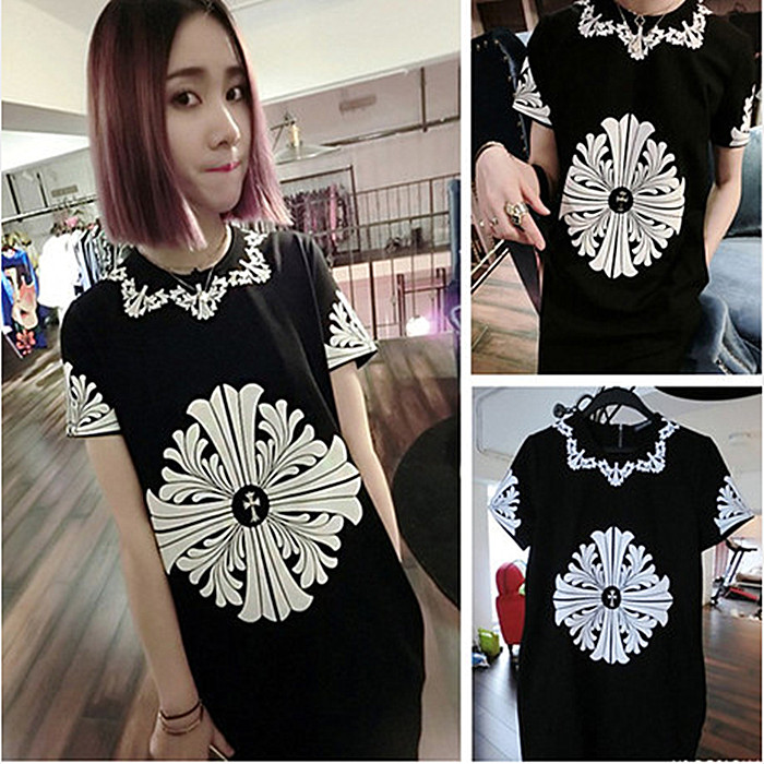 Summer 2014 new plus size dresses new Harajuku Girls short sleeve women t-shirt