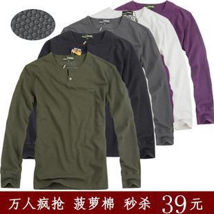 Футболка мужская JEEP 116 12 Длинные рукава ( рукава > 57см ) Немнущаяся ткань C вышивкой Классический рукав 2012