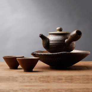 [ beauty of ceramic art. Zen Eastern] Qing pingle-zhe-glazed tea sets CW0583F