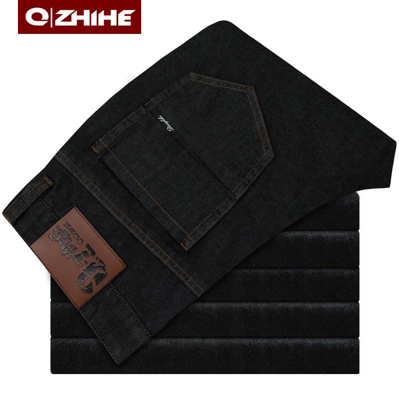 Джинсы мужские QZHIHE qzh061 061 Прямые брюки Классическая джинсовая ткань Повседневный стиль 2012