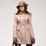 2125337038 Zhuoou 2011 new women39s winter wool coats rabbit fur collar woolen coat female D108032