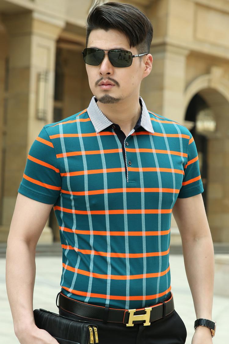 Youngor/雅戈尔短袖体恤 韩版商务休闲T恤衫 正品纯棉中年男士t恤