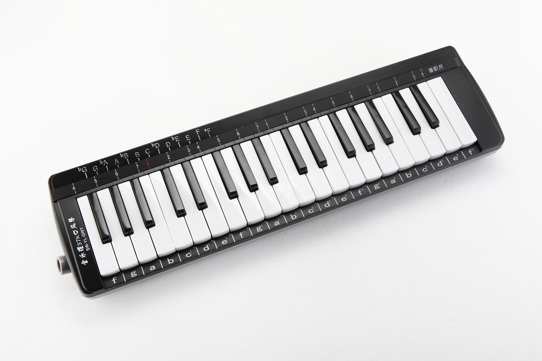 天鹅37键全乐理口风琴,有箱包,带吹嘴吹管教材,全国包邮