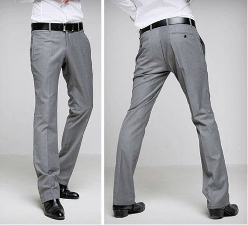 men grey pants - Pi Pants