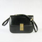 Celine Classic Box Flap Across Body Bag In Black.