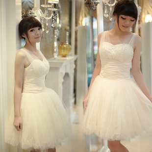 Luxury style bridal wedding dress harness small Princess dresses bridesmaid clothing performance clothing Delta short