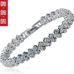 Diamond stone bracelet