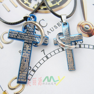 2011 new consideration of the preferential Europe  the United States cross couples suite necklace for male  female short-chain wholesale X162