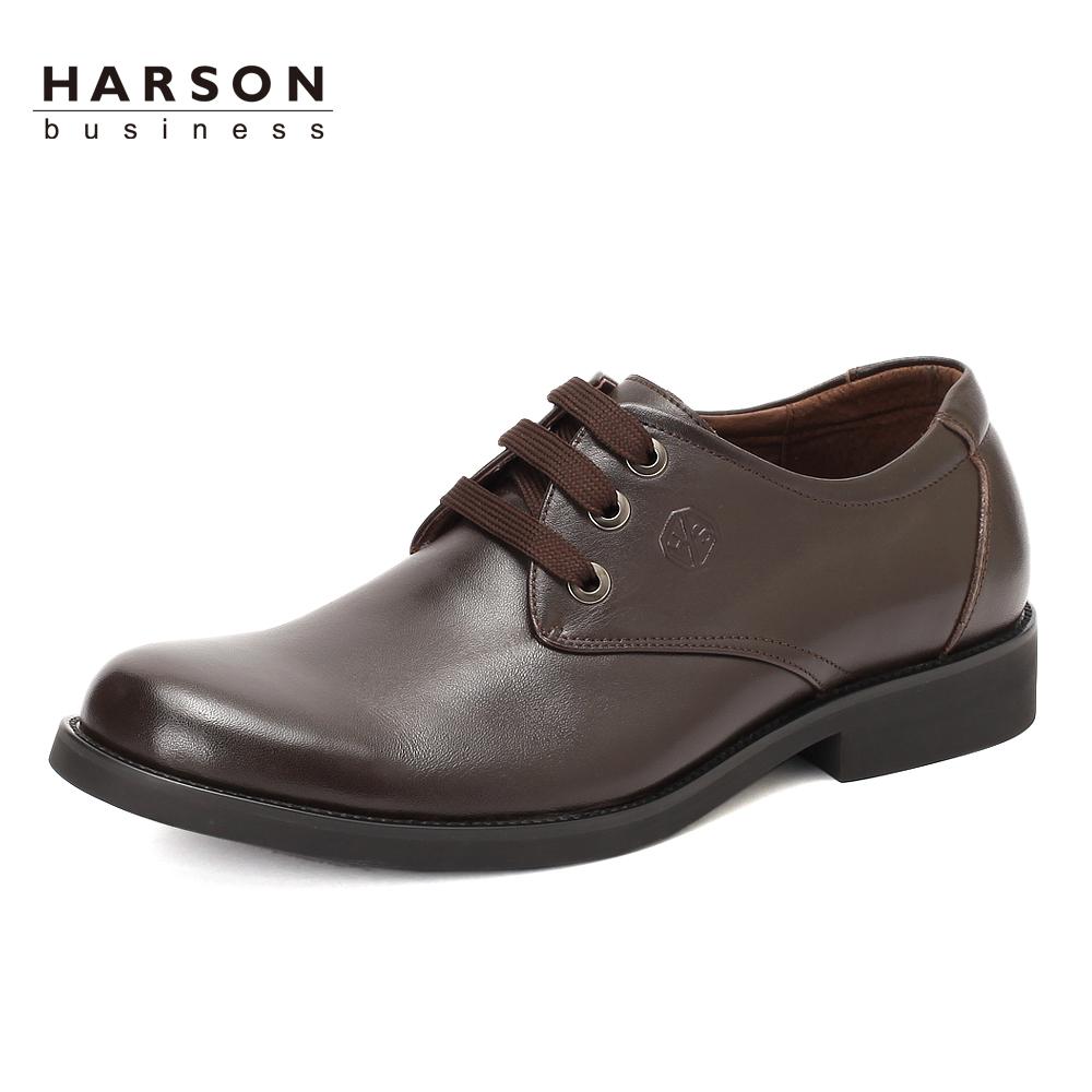 哈森harson 2012秋季新款百搭时尚商务正装头层牛皮男图片