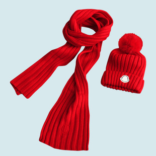 Special offer! [Aegean fashion] rabbit hair sphere details women's Fleece Hat scarf set of two 6,981