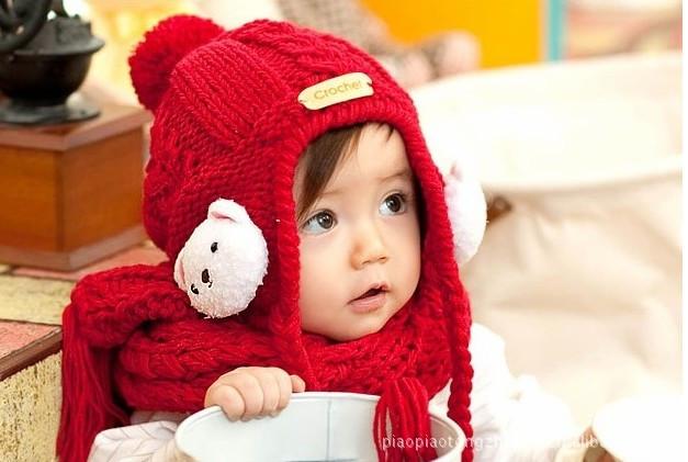 宝宝绒线帽编织_