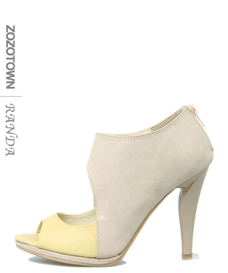 Босоножки Randa 100000109 ZOZOTOWN Средний каблук (3 -5 см) Летом 2012 года Искусственная кожа