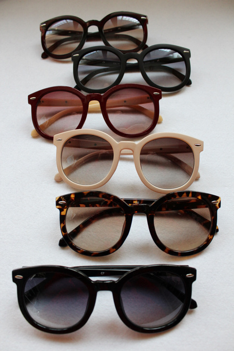 Солнцезащитные очки Ретро битник круглые очки солнцезащитные очки винтажные летом большой ветер и Сесилия Cheung знаменитостей с очки Универсальные Спортивные, Комфортные, Классический стиль, Индивидуальный, Утонченные, Элегантный стиль, Роскошные, Авангардный стиль, Суженные