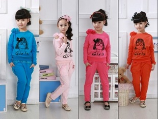 Tong Korean Boxset girls childrens clothing spring 2012 new children suit, casual sportswear suit sweater
