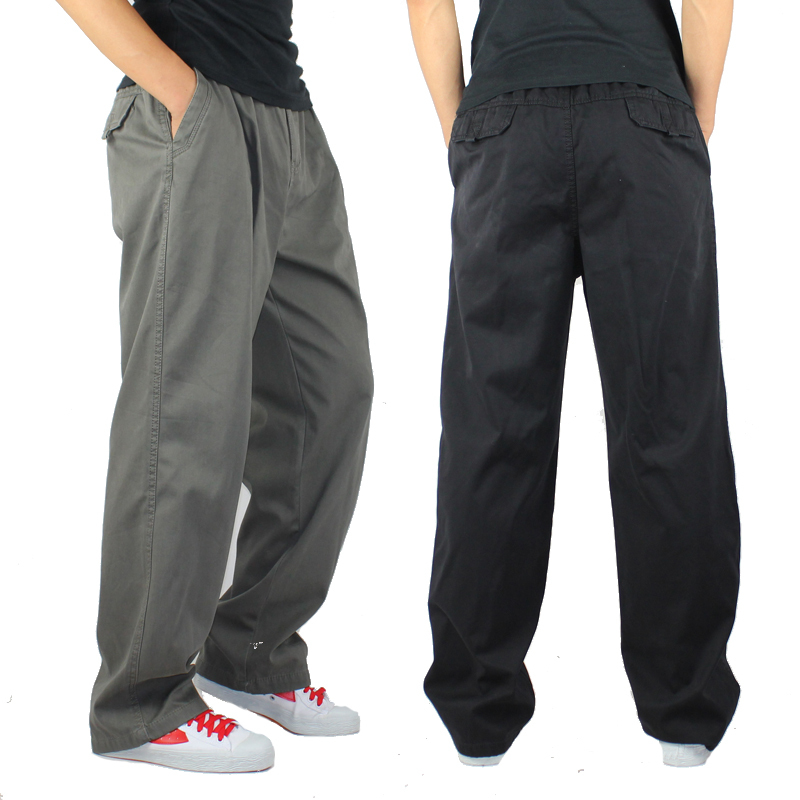 new winter men outdoor overalls loose hip-hop casual pants trousers code elastic pants fat