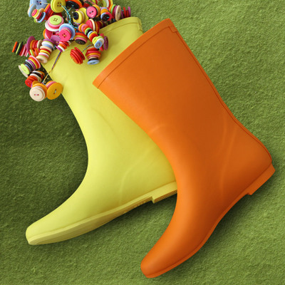 Fun 2014 involving new candy-colored boots fashion rain boots in tube boots shoes free shipping