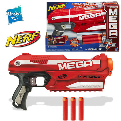 Red being authentic hasbro NERF gun series A4887 desert eagle emitter soft  bullet toy guns