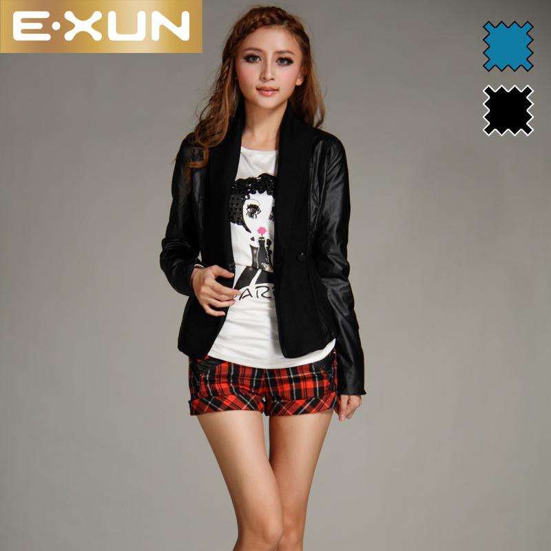 Кожаная куртка E. xun 21110541 2012