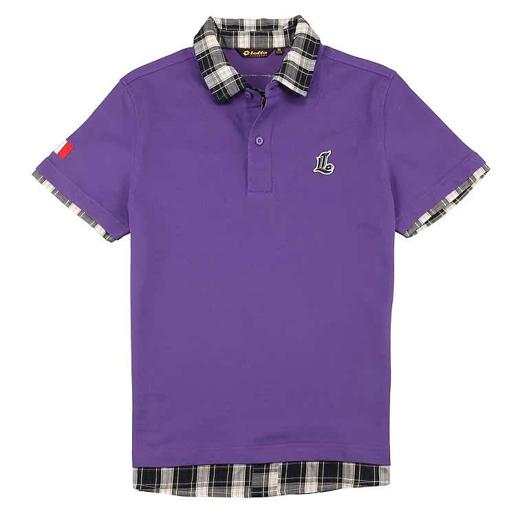 Рубашка поло Lotto POLO EPLF031-2F Для мужчин Универсальные ткани Стандартный Короткие рукава ( ≧35cm ) Простое, однотонное Для спорта и отдыха